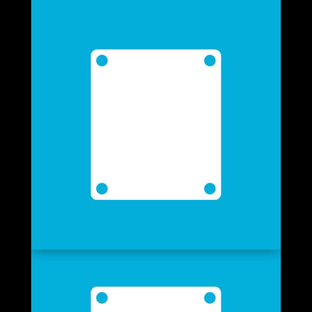 drive, blank, mirror icon