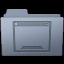 Desktop, Folder, Graphite icon