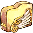 folder,angelwing icon