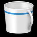 blank, empty, recycle bin, trash icon