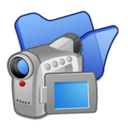 folder,blue,video icon