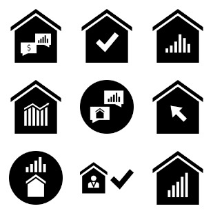 Real Estate icon sets preview