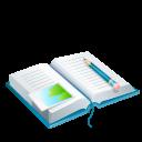 diary, holiday icon