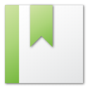 bookmark, green icon