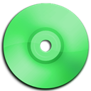 Cd, Dvd, Green icon