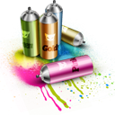 by, spray icon