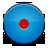 button, record, blue icon