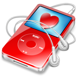 red, video, favorite, ipod icon