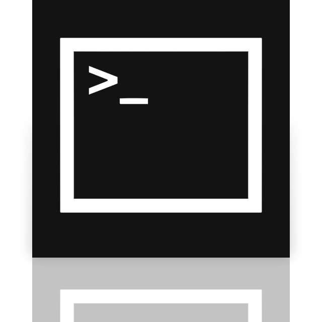 command, prompt, mirror icon