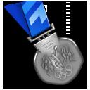silver,medal,award icon