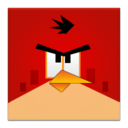 red,angrybird,frameless icon