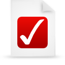 paper, red, document, file icon