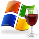 wine, glass, windows icon