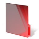 red,closed,folder icon