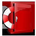 locker, help icon