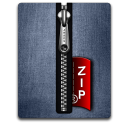 silver, blue, zip icon
