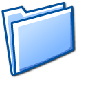 blue, folder, closed icon