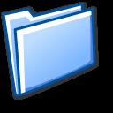 blue, folder, closed icon