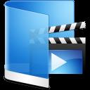 Folder Blue Videos icon