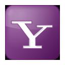 lilac, yahoo, box, social icon