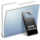 folder, smooth, do, graphite, not, disturb icon