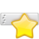 Actions bookmark toolbar icon