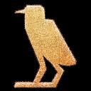 quail, embossed icon