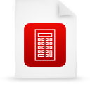 red, document, file, paper icon