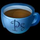 photoshop, coffee icon