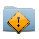 Folder Blue Danger icon