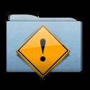 Folder Blue Danger icon