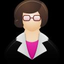 girl, woman, female, teacher icon