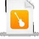 orange, document, music, paper, instrument, file, guitar icon