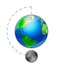world, earth, globe, phase, moon, planet, full icon