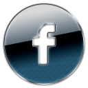 button, facebook, circle icon
