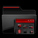 Black, Folder, Group, Program, Red icon