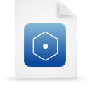 document, paper, blue, file icon