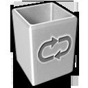 empty, blank, recycle bin, trash icon