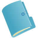 document,folder,blue icon