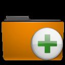 orange, archive, folder, plus, add icon