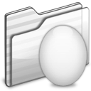white, egg, folder icon