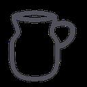 tea, water, beverage, pot, drink, artisany icon