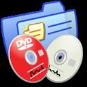 Folder Blue DVDR & CDR icon