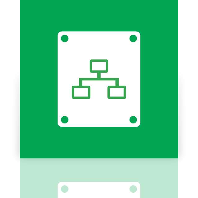 drive, mirror, connected, network icon