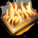 burn, black icon