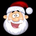happy,santaclaus,funny icon