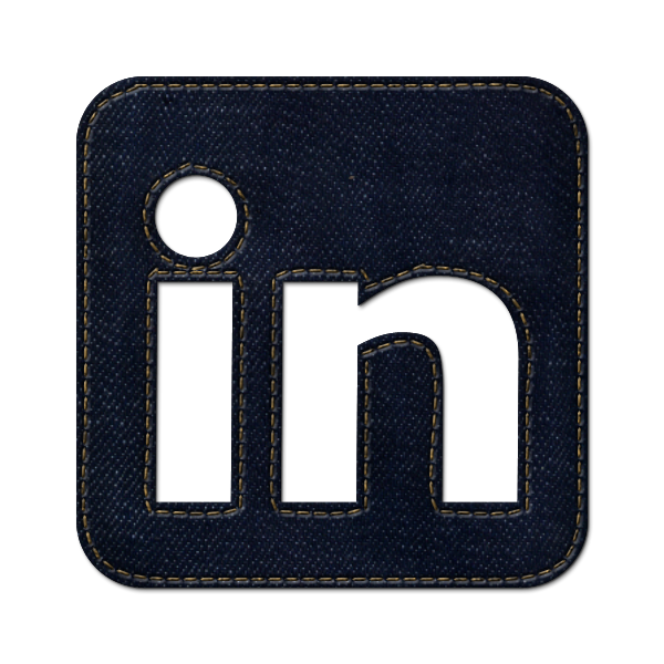 square, linkedin, logo, jean, social, denim icon