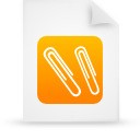 orange, paper, document, file icon