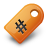 tag, orange icon