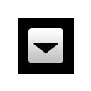 down, fall, decrease, descending, descend, download icon